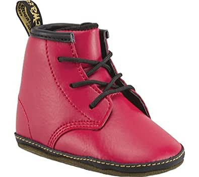 Dr Martens Auburn Baby Red Leather 3 UK Child