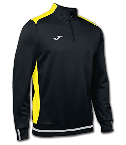 Joma Campus II Sweatshirt Zip-Top schwarz-gelb black-yellow, XL - Schwarze Zip Sweatshirt