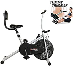 Body Gym Air Bike BGA-1001 with Back Support Exercise Cycle(Free Tummy Trimmer) Helps for Easily Loss Your Weight at Home