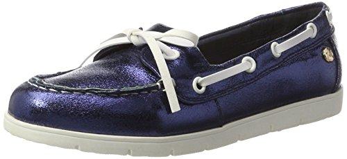 XTI Damen Navy Metallic Ladies Shoes Mokassin Blau (Navy)
