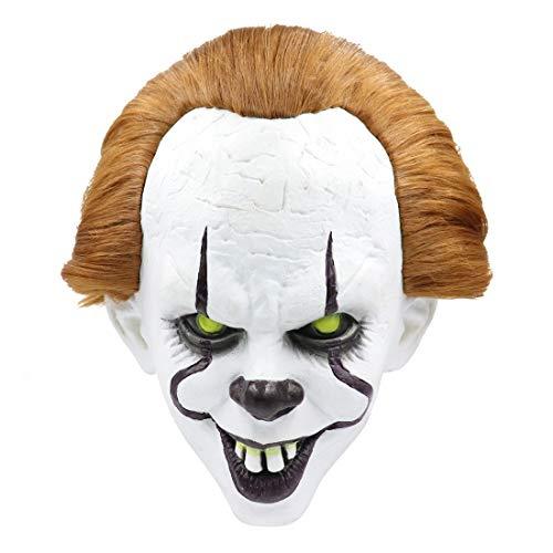 Kostüm Für Zentai Skelett Erwachsene - Halloween Maske Cosplay, Clown Latex Vollkopf Maske for Rollenspiele Halloween Kinder Hockey Party (Size : MJ03)