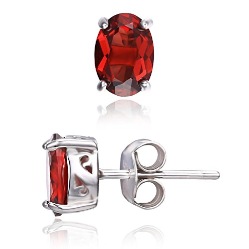 jewelrypalace-oval-2ct-natural-red-garnet-birthstone-stud-earrings-solid-925-sterling-silver