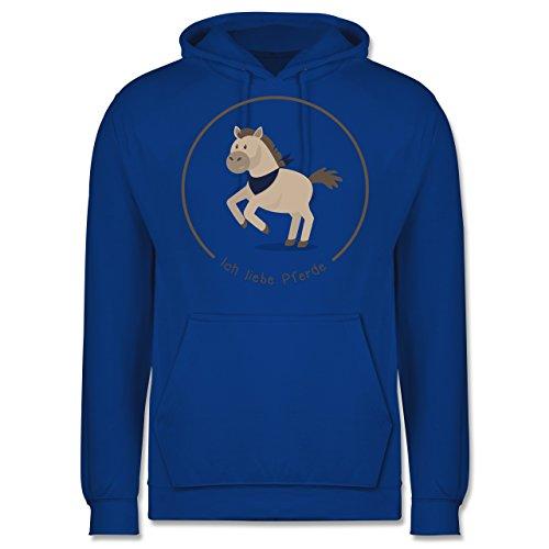 Pferde - Ich liebe Pferde - Männer Premium Kapuzenpullover / Hoodie Royalblau