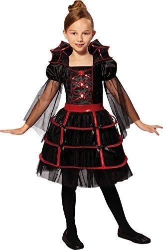 orror Party Buchwoche Tag Kostüm Vampir Cutie Kostüm - Schwarz/Rot, Small 110cm - 122cm (Cutie Halloween Kostüme)