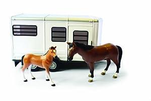 Big Farm - Remolque para caballos con caballo y potro (TOMY 42846)