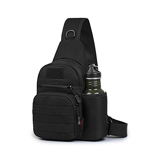Festnight Outdoor Brusttasche Sports Sling Bag Wasserdicht Schultertashe Universal Daypack Verschleißfeste Brustpaket für Reise Radfahren Wandern Camping Bergsteigen usw.