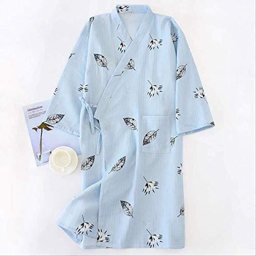 XFLOWR Summer Simple Kimono Robes Men 100% Gasa Algodón Albornoces Albornoz para Hombres Manga Larga...