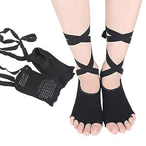 SUPVOX Yogasocken rutschfeste Socken für das Tragen von Ballettstangen