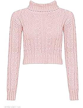 Zara Fashion -Le Donne Chunky Cavo lavorato a maglia Polo scollo Top Crop