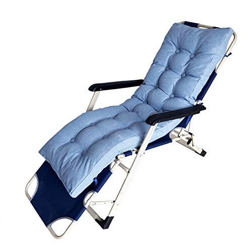 DLPY Patio Chaise Liege Kissen, Hochlehner Auflage Liege Sitzkissen Weiches Liegestuhl Seat Dämpfung Für Garten Rocking Stuhl-hellblau Blau 170x48cm(67x19inch)