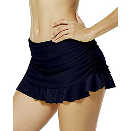 Damen Badeshorts Bikinihose Juleya Bikini/Strand Mini Rock mit integrierter Hose EU 34--EU 48 Dunkel Blau