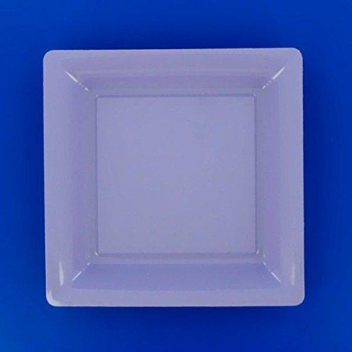Assiette carrée plastique 23.50 x 23.50 cm ( lot de 12 ) - lilas
