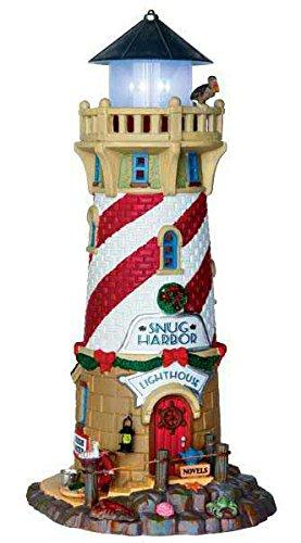 Lemax - Maritim Snug Harbor Lighthous - 11,2cmx24,5cmx13cm - Leuchtturm - 4,5V - Porzellan (Porzellan-weihnachtsdorf)