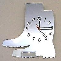 Super Cool Creations Wellington Boots Clock Mirror 35cm x 30cm
