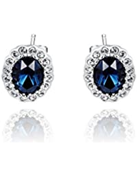 Silver Shoppee 'Magic spell' High Quality Genuine Austrian Crystal Studded Sterling Silver Earrings for kids, Girls and Women