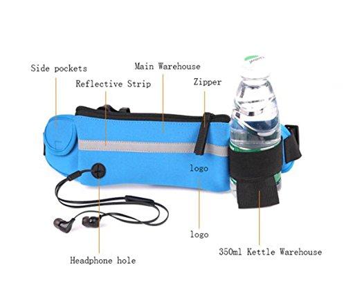 OOFWY Sport Wasserkocher Geldbörsen Jogging Männer und Frauen Mini Stealth Wasserdichte Fitness Outdoor Taschen F