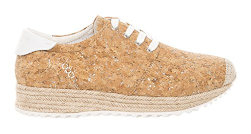 SIXTY SEVEN Damen 77953 Sneaker Multicolor (Cork natural/Blanco)