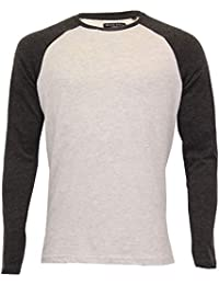 9c4e7f91b735 Brave Soul Mens Top Long Sleeved T Shirt Jersey Crew Neck Casual Summer  Fashion