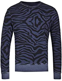 True Religion Zebra Print Navy Sweatshirt