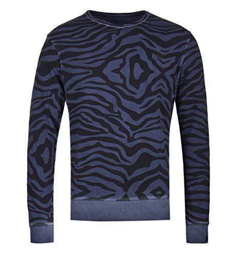 True Religion Zebra Print Navy Sweatshirt - EXTRA Large