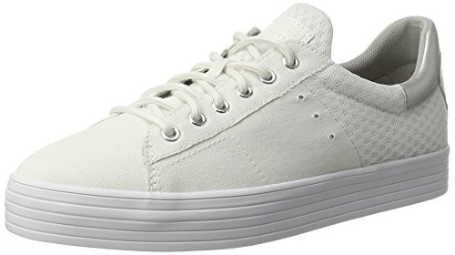 ESPRIT Damen Sita Lace Up Sneakers Weiß (100 White)