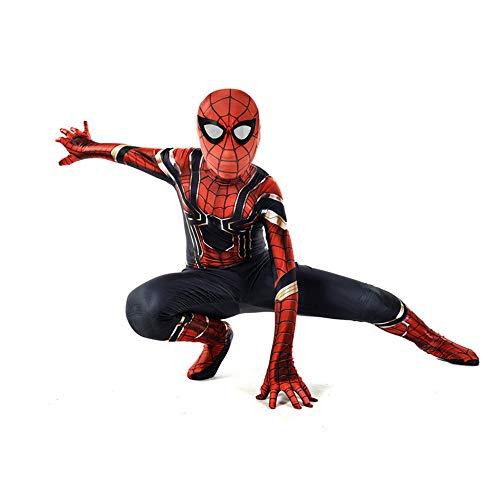 SHANGN Halloween Theme Party Kinder Adult Movie Cosplay Kostüm Superheld Spiderman Spandex Dress Up Bodysuit,Child-XL (Kostüme Theme Adult)