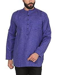 WILLOWY Men's Cotton Khadi Kurta - Short Length