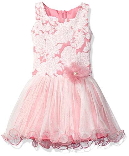Bonnie Jean traumhaftes Mädchen Party Tutu Kleid Rosa Weiß Blume für festliche Anlässe (5)