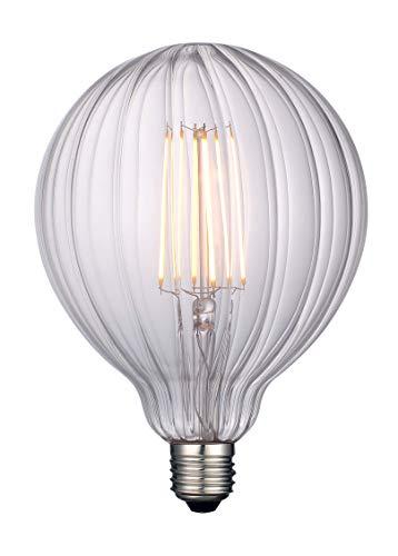 Dimmbare LED-Edison-Birnen, Glühlampen mit riesiger Glühlampe E27, Glühlampen mit Kürbis-Muster, klares Glas, 4W warmweiß 400lm dekorative Glühlampen (φ125mm) -G125-C-Kürbis