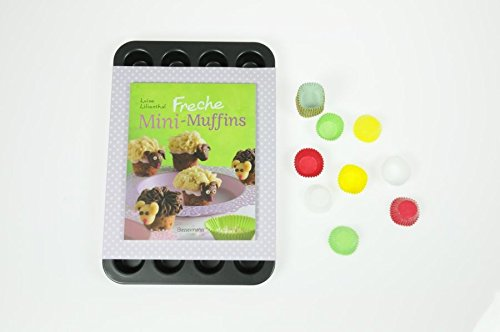 Freche Mini-Muffins/Set,Buch+ 24er Form + 300 Papierförmchen