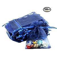 Tiunyeah 100 Pcs Organza Wedding Favour Bags Gift Mini Jewelry Bags