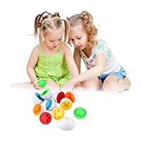 Shape Matching Eggs Toddler Eggs Toys Educational Color Shapes Recognition Skills Learning Toy for Toddlers and Kids 1 Pack Random Color