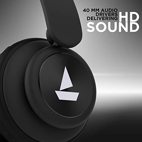 boAt Rockerz 450 Wireless Bluetooth Headphone (Luscious Black) Image 5