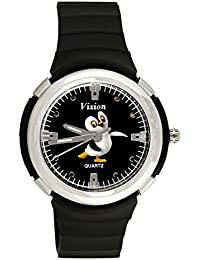 Vizion Analog Black Dial (APPY-The Dancing Penguin ) Cartoon Character Watch for Kids-8828-1-2