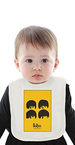 The Beatles Hard Day's Night Organic Baby Bib With Ties Medium