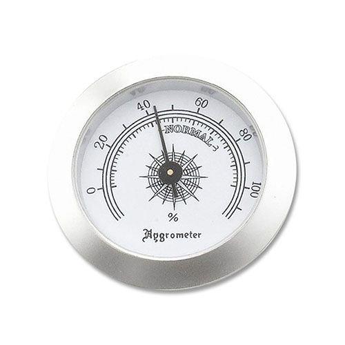 Hygrometer-zum-Einbauen-in-Humidore-aus-Chrom-in-silber-5-cm-Durchmesser