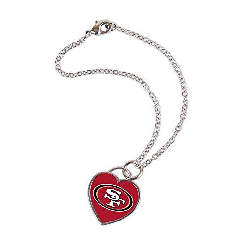 Wincraft Damen 3D Herz Armband - NFL San Francisco 49ers (Armband 49ers)