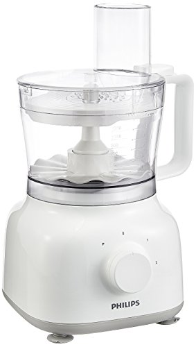 Philips Daily Collection HR7628/00 650-Watt Mini Food Processor (White)