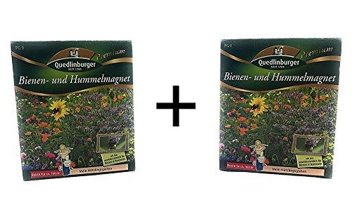 2er Pack | Bienen und Hummelmagnet | Doppelpackung | Wildblumenmischung | Blumenwiese