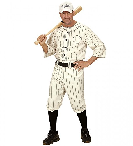 Herren-Kostüm Baseball Player Sportler Kappe Shirt Hose Sport Spieler USA Base-Cap, Größe:XL