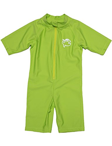 iQ-UV Kinder 300 Shorty Schutz Uv Anzug, Neon-Green, 80/86