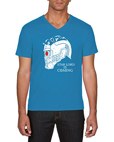 Touchlines Starlord Is Coming, T-Shirt Uomo Blu (Azur 49)