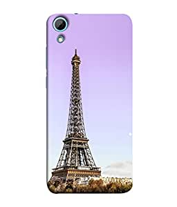PrintVisa Designer Back Case Cover for HTC Desire 826 :: HTC Desire 826 Dual Sim (Eiffel Tower In Pink Design)