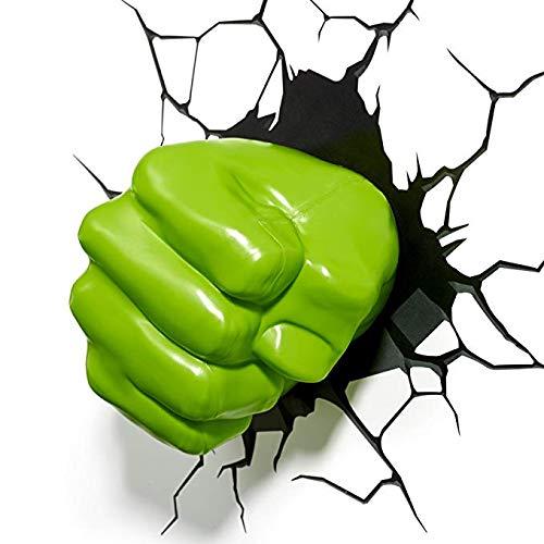 Lámpara De Pared 3D De Marvel Hulk Fist Avengers 4 Lámpara De Pared De La Novedad 178 * 155 * 275mm...