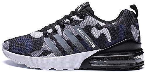 tqgold Scarpe da Ginnastica Uomo Donna Sportive Corsa Fitness Running Jogging Sneakers Blu Taglie 39