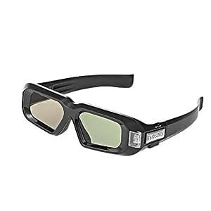 New SainSonic Zebra 144Hz 3D DLP Lunettes pour Optoma BenQ W1070 W1080 W750, Noir