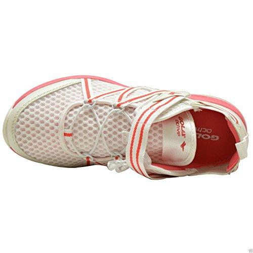 GOLA Donna Sport Palestra Active Velcro donna Mash Trainers Scarpe Numero UK 3-8 Bianco Rosa