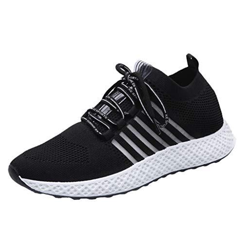 CUTUDE Herren Sneaker Laufschuhe Schnürer Leichte Stoßfest Mode Mesh Freizeit Sportschuhe Outdoor Sports - Viele Farben 39 EU-44 EU (Schwarz, 39 EU)
