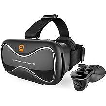 Pasonomi VR, Gafas de Video Virtual VR Headset con Controlador Remoto Bluetooth Mando para iPhone Samsung Huawei Sony LG Google Android Smartphones & Teléfonos