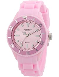 Pastell Rosa Madison New York Candy Time Mini Damen Armbanduhr